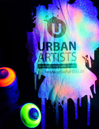 Urban Artists Neon-Blacklight Graffiti