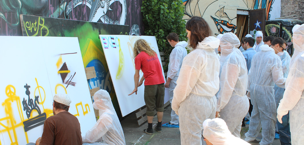 Street Art Incentive Workshop mit Hilfe der Urban Artists