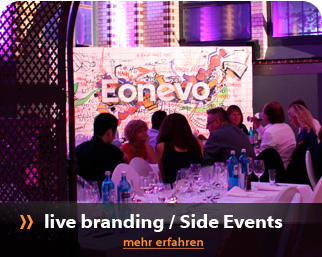 Messe- und Eventmodule mit Livepainting oder Interaktiv Showelement als Side-Event