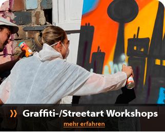 Graffit und Streetart Workshop mit Teambuildunge im Yaam an der East-Side-Gallery / Berliner Mauer